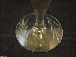 Set of 9 small wine or large liquor glasses copper wheel design leaves berries image 5