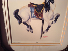 Authentic Framed 995 L D Agnillo Signed Horse Print Chief image 4