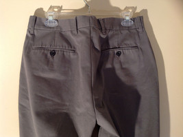 Axist Gray Four Pocket Dress Pants Clasp Zipper Closure Belt Loops Size 34 by 29 image 5
