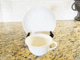 Ralph Lauren Wedgwood CLAIRE Cup and Saucer Set white - $6.88