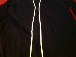 Avenue Long Sleeve Cardigan Black Trimmed in White Size 14/16 image 5