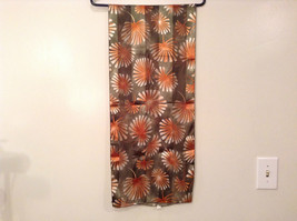 Shiny Floral Pattern Olive Green and  Light Brown Polyester Scarf Made in Korea image 3