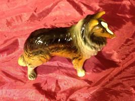 "Sheltie Dog 5"" figurine multi colored chip on nose image 3"