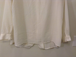 Ship N Shore White V Neck Button Up Top Side Slits Embroidery on Front Size 20W image 5