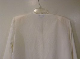 Ship N Shore White V Neck Button Up Top Side Slits Embroidery on Front Size 20W image 4