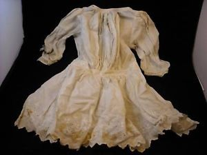 Vintage Child or Baby Dress with lace trim