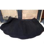 Vintage Black Zipper Handbag with Side Pocket Metal Heart on Back - $84.14