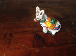 Vintage Ceramic Donkey Handcrafted Figurine Colorful Traditional White La Gomera - $39.99