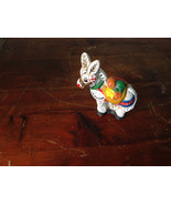 Vintage Ceramic Donkey Handcrafted Figurine Colorful Traditional White L... - $39.99