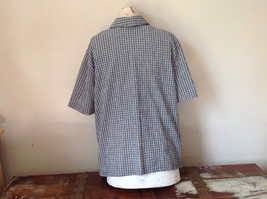 Short Sleeve Collared Button Down Black and White Check Pattern Shirt Size 16W image 6