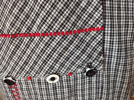Short Sleeve Collared Button Down Black and White Check Pattern Shirt Size 16W image 5