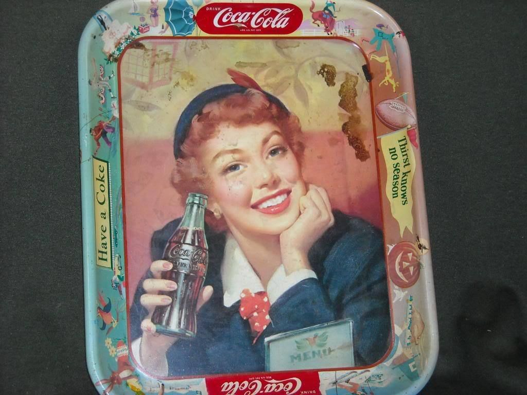 Vintage Coca cola Seasonal Food Tray Have a Coke
