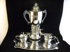 Vintage Chrome Coffee Set Labelle Silver Co
