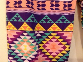 Aztec spring summer vibrant colored leggings NEW in package  image 4