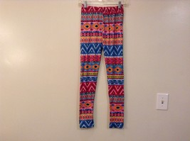 Aztec spring summer vibrant colored leggings NEW in package  image 8