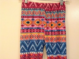 Aztec spring summer vibrant colored leggings NEW in package  image 9