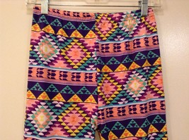 Aztec spring summer vibrant colored leggings NEW in package  image 3