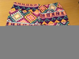Aztec spring summer vibrant colored leggings NEW in package  image 6