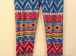 Aztec spring summer vibrant colored leggings NEW in package  image 10