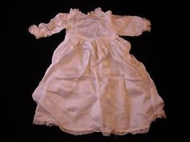 Vintage Doll Clothing - White Long Sleeved Dress - $31.18