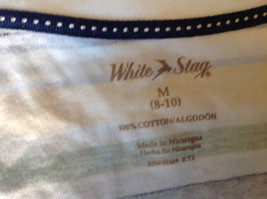 Short Sleeve White Stag 100 Percent Cotton Multicolored Striped Shirt Size M image 6