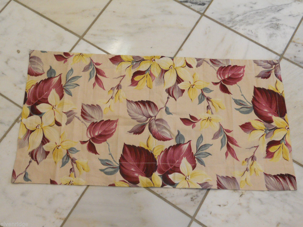 Vintage Floral Curtain Small Panel