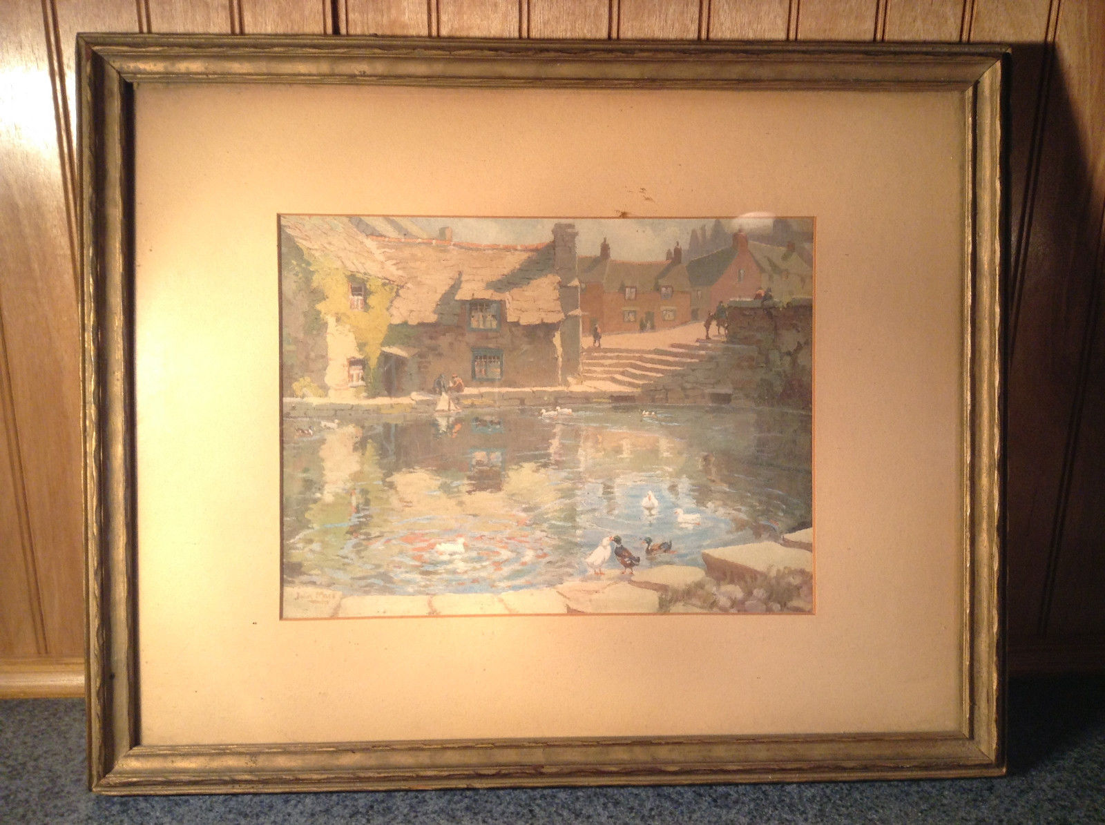 Vintage Framed Reproduction of Town Reservoir by John Moss