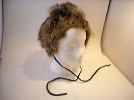 Vintage Fur Hat w Leather Ties Mr. R