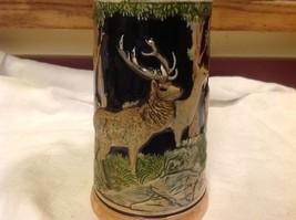 Vintage German lidded ceramic stein from estate mid 1900s #3