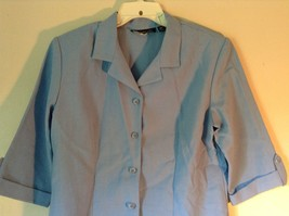 Baby Blue Briggs New York Size 16P Button Up Front Short Sleeve Top image 2