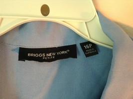 Baby Blue Briggs New York Size 16P Button Up Front Short Sleeve Top image 4