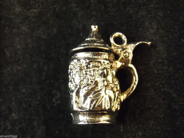Silver Beer Stein Bracelet Charm image 3