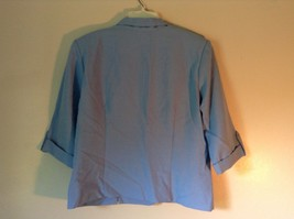 Baby Blue Briggs New York Size 16P Button Up Front Short Sleeve Top image 5
