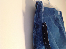 Side Closure Wide Leg Blue Jeans by Ninety Jeans Size 10 image 5