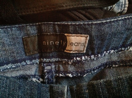 Side Closure Wide Leg Blue Jeans by Ninety Jeans Size 10 image 8