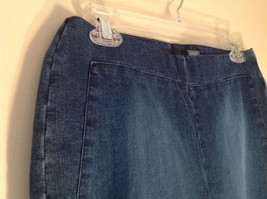 Side Closure Wide Leg Blue Jeans by Ninety Jeans Size 10 image 4