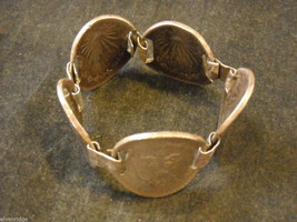 Silver Bracelet made from Mexican Pesos image 2