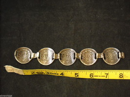 Silver Bracelet made from Mexican Pesos image 7