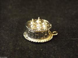 Silver Happy Birthday Cake Bracelet Charm image 2