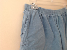 Baby Blue Alfred Dunner Blue Corduroy Elastic Waistband Pants Size 14P image 3