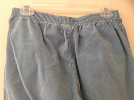 Baby Blue Alfred Dunner Blue Corduroy Elastic Waistband Pants Size 14P image 5