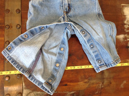 Baby Gap Infant Snap Legs Blue Jeans with Elastic Waist Size 9 to 12 Months image 3