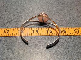 Silver Tone Geo Jewelry Bracelet with Light Pink Stone Oval Shape image 7