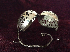 Silver Tone Hanging Ball and Chain Latch Opens Ball image 3