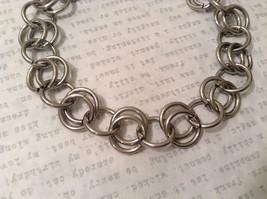 Silver Tone Handmade Steam Punk Ring Bracelet image 3