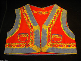 Vintage Hand Embroidered Children's Vest