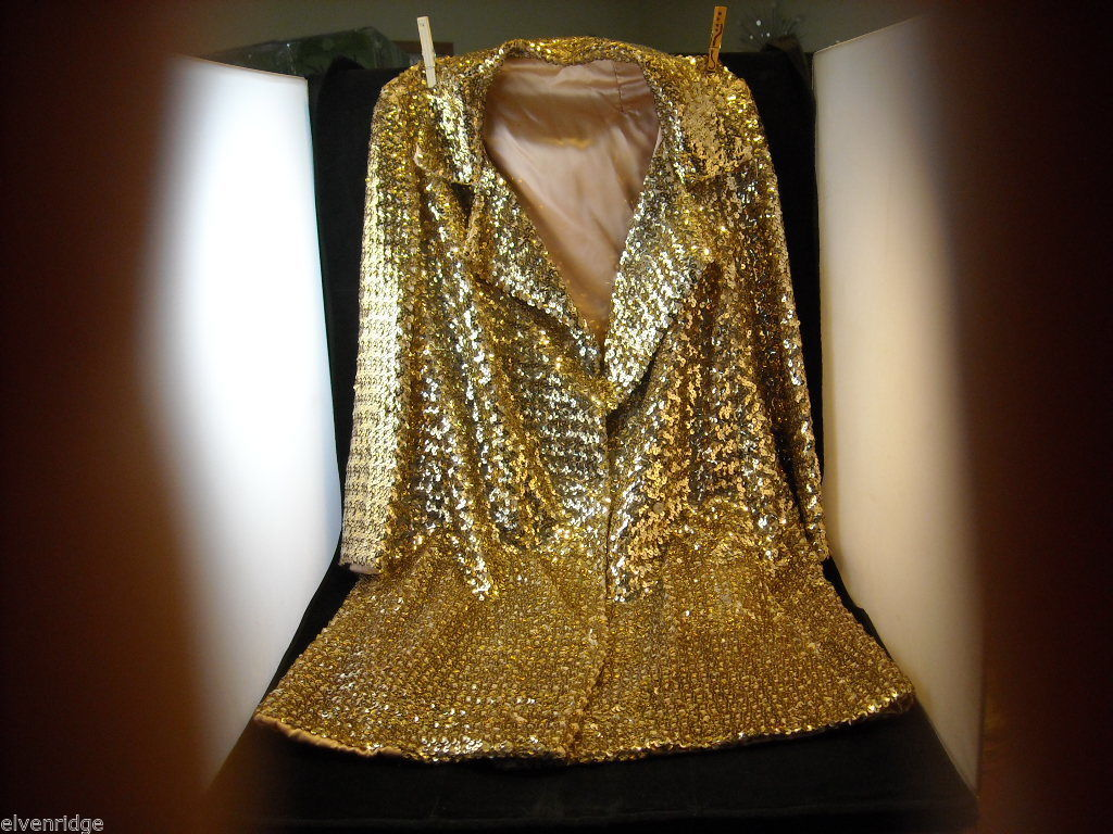 Vintage Gold Sequined Coat Women's Size 12