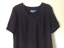 Simply Vera Plain Black Short Sleeve Top 100 Percent Polyester Size Large image 4