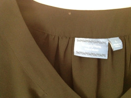 Simply Vera Plain Black Short Sleeve Top 100 Percent Polyester Size Large image 3