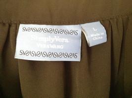 Simply Vera Plain Black Short Sleeve Top 100 Percent Polyester Size Large image 2